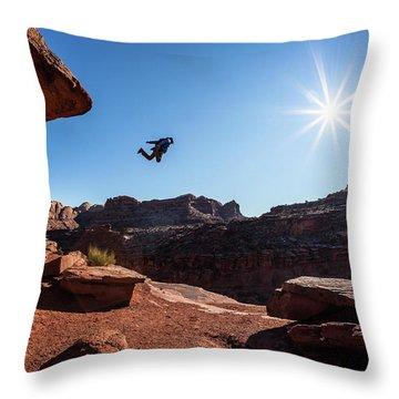 Base Jumper Throw Pillow