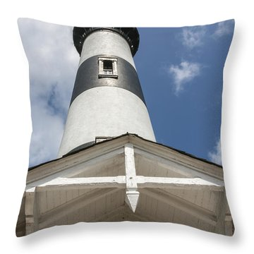Base Of Bodie Island Lighthouse Throw Pillow