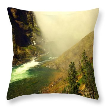 Base Of The Falls 2 Throw Pillow by Marty Koch