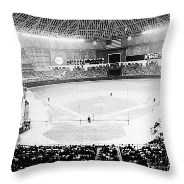 Baseball: Astrodome, 1965 Throw Pillow
