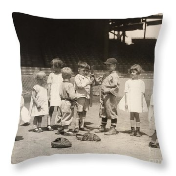 Baseball: Boys And Girls Throw Pillow by Granger