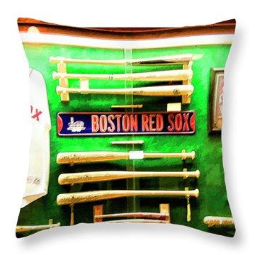 Baseball Display Red Sox's Yankees  Throw Pillow