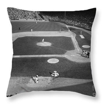 Baseball Game, 1967 Throw Pillow by Granger