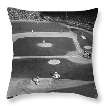Baseball Game, 1967 Throw Pillow