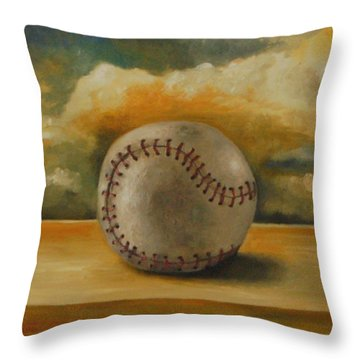 Baseball Throw Pillow by Leah Saulnier The Painting Maniac