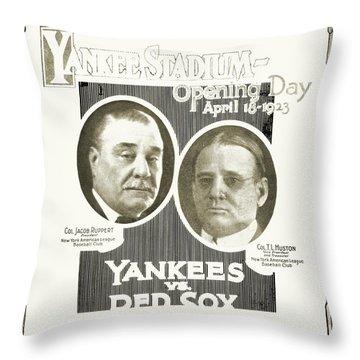 Baseball Program, 1923 Throw Pillow by Granger