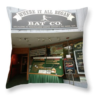 Baseball Retail Store Cooperstown Ny Throw Pillow
