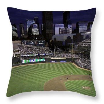 Baseball Target Field  Throw Pillow