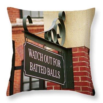 Baseball Warning Throw Pillow