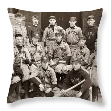 Baseball: West Point, 1896 Throw Pillow by Granger
