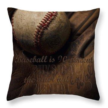 Baseball Yogi Berra Quote Throw Pillow