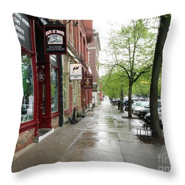 Baseball's Cooperstown Ny  Throw Pillow