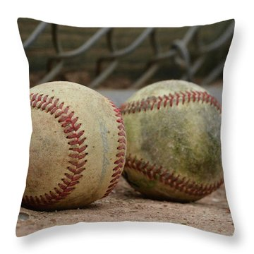 Baseballs Throw Pillow
