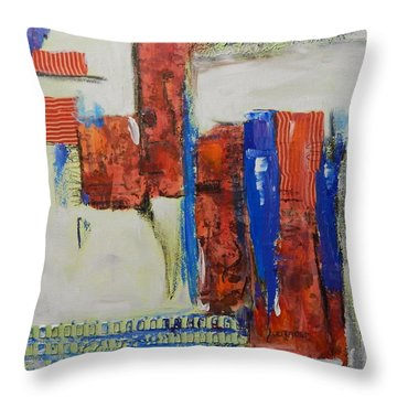 Based On True Events Throw Pillow by Sue Furrow