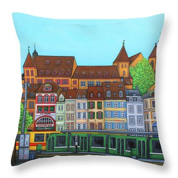 Basel, Barfusserplatz Rendez-vous Throw Pillow
