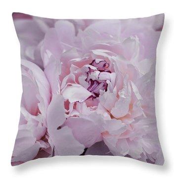 Bashful Blooms Throw Pillow