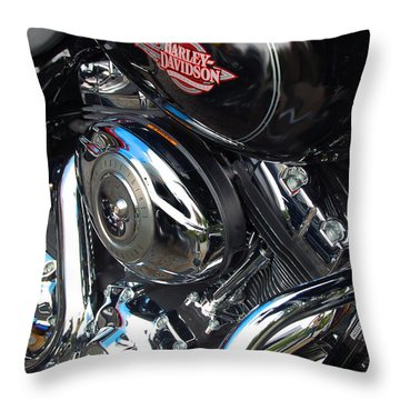 Basic Black Throw Pillow