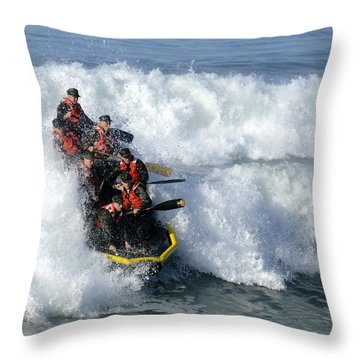 Basic Underwater Demolitionseal Buds Throw Pillow by Stocktrek Images
