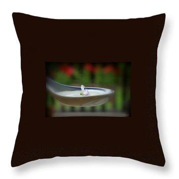 Throw Pillow featuring the photograph Basil by Marija Djedovic