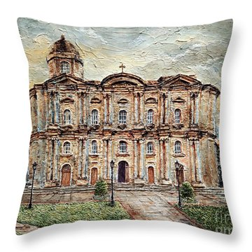 Basilica De San Martin De Tours Throw Pillow