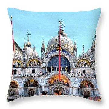 Basilica Di San Marco Throw Pillow by Sarah E Ethridge