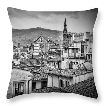 Basilica Di Santa Croce Throw Pillow
