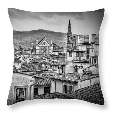 Basilica Di Santa Croce Throw Pillow by Sonny Marcyan