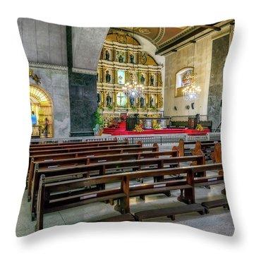 Basilica Minore Del Santo Nino Throw Pillow