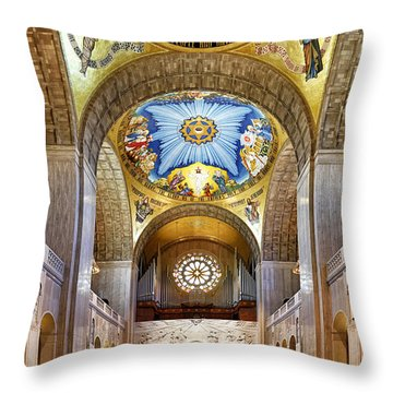 Basilica Of The National Shrine Of The Immaculate Conception - Interior Throw Pillow