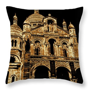 Basilica Of The Sacred Heart Throw Pillow