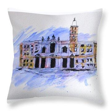 Basilica St Mary Major Throw Pillow