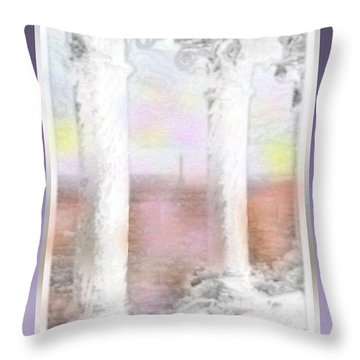 Sacre - Coeur Sunset Throw Pillow