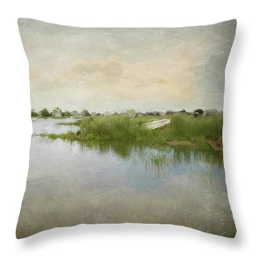 Basin Skiff Throw Pillow