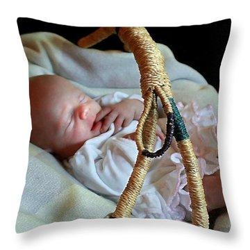 Basket Baby Throw Pillow