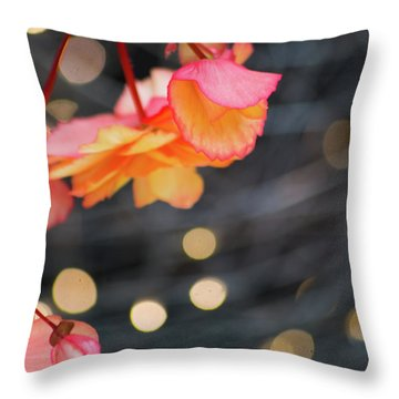 Throw Pillow featuring the photograph Basket Begonia by Lora Lee Chapman