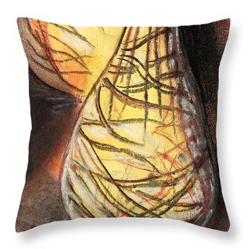 Basket Light Yellow Glow Throw Pillow