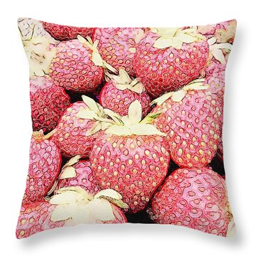 Basket Of Berries Throw Pillow