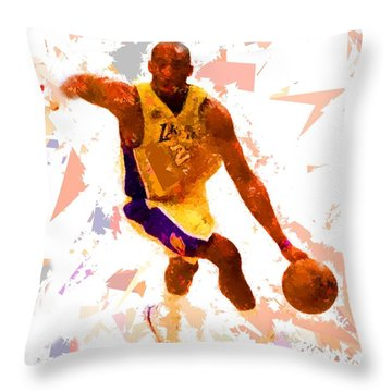 Throw Pillow featuring the painting Basketball 24 A by Movie Poster Prints