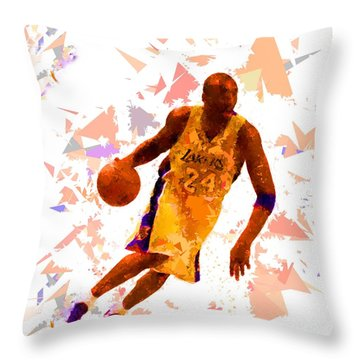 Throw Pillow featuring the painting Basketball 24 by Movie Poster Prints