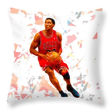 Throw Pillow featuring the painting Basketball 33 by Movie Poster Prints