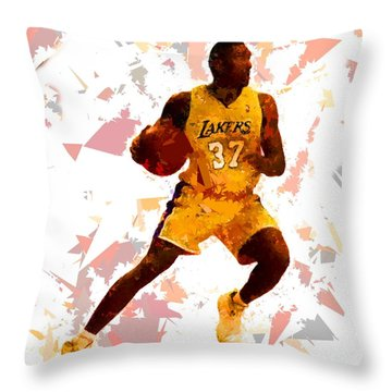 Throw Pillow featuring the painting Basketball 37 by Movie Poster Prints
