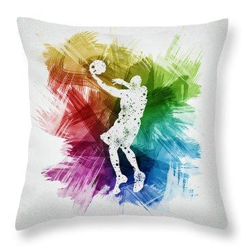 Basketball Player Art 01 Throw Pillow