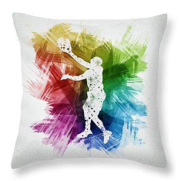 Basketball Player Art 23 Throw Pillow