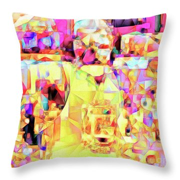 Throw Pillow featuring the photograph Basketball Power Flex In Abstract Cubism 20170328sq by Wingsdomain Art and Photography