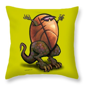 Basketball Saurus Rex Throw Pillow