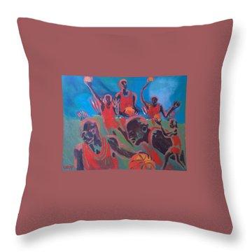 Basketball Soul Throw Pillow