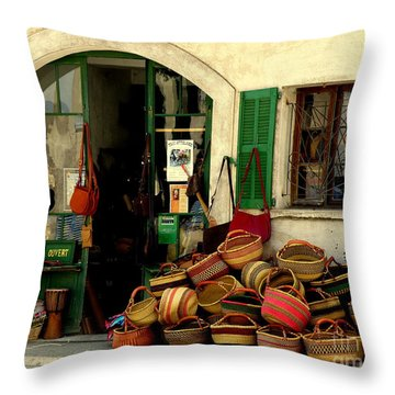 Baskets Anyone Throw Pillow