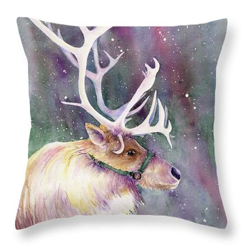 Basking In The Lights Throw Pillow