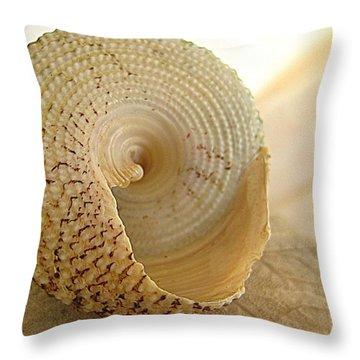 Basking Seashell Throw Pillow