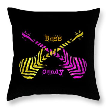 Bass Candy Throw Pillow